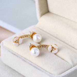 Kate Spade Shell Flower Pearl Earrings